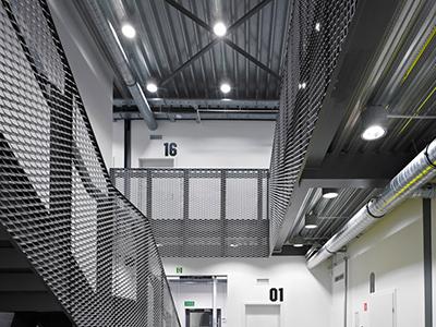 铝拉网吊顶案例